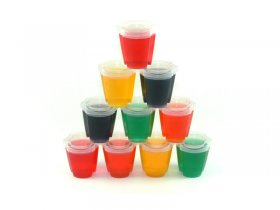 EZ-Squeeze Jello Shot Cups W/Lids 100 Pack
