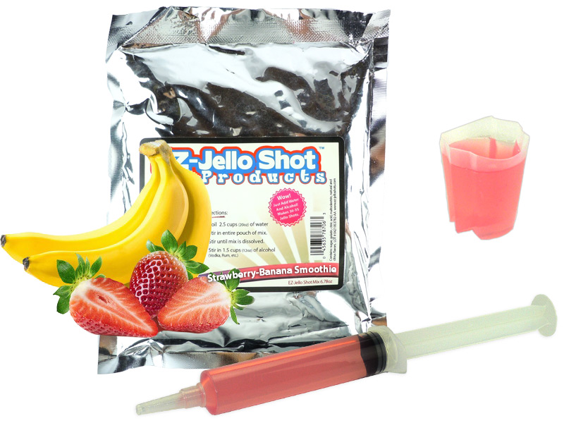 Strawberry Banana Smoothie EZ Jello Shot Mix