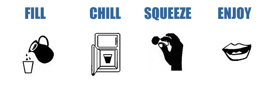 Fill Chill Squeeze Enjoy!