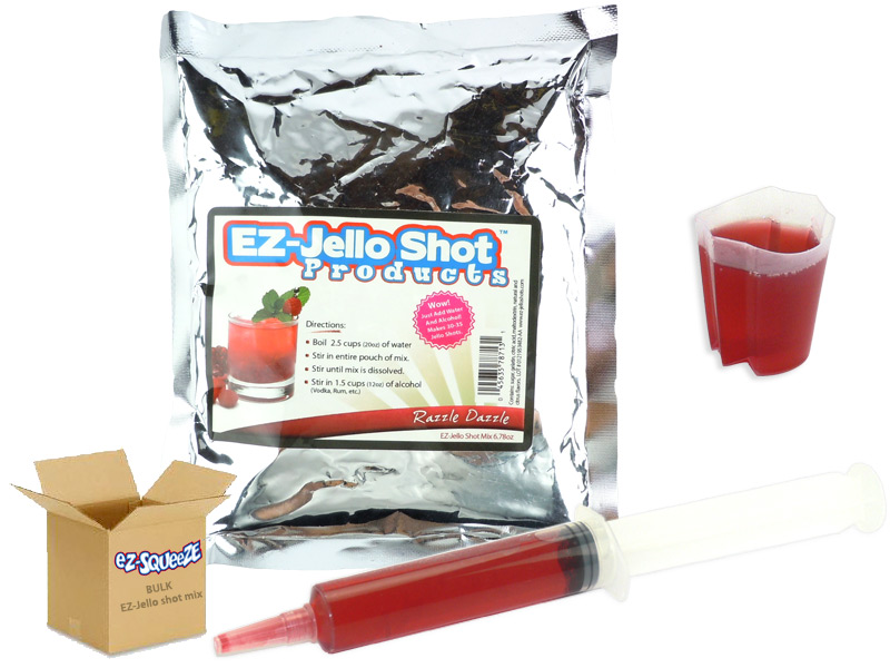 Razzle Dazzle EZ-Jello Shot Mix - BULK BOX