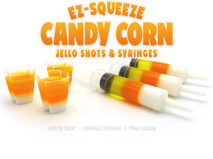 EZ-Squeeze Candy Corn Jello Shots 2